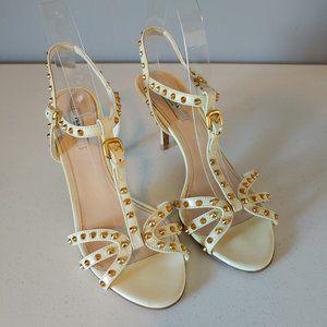 """Prada Cream Patent Sandals """"EUC"""""""